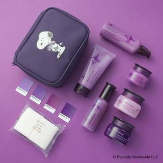 NEW 💜 Korea Innisfree x Snoopy Orchid Lucky Box Jeju Dark Purple Intense Set + Random Free Gift!
