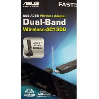 Barely Used: Asus USB-AC56 AC1300 WiFi Adapter