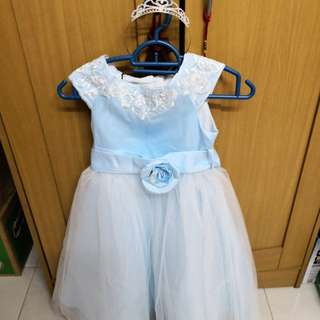 Premium Gown for Girl with Crown, size 110