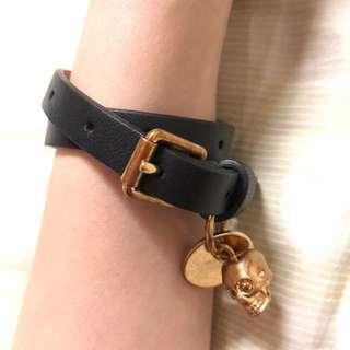 Alexander Mcqueen leather 手帶 bracelet