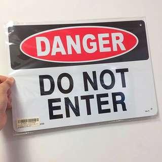 掛牌 掛牆 (大) DANGER DO NOT ENTER