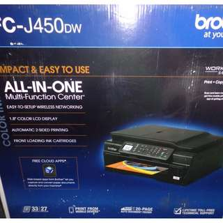 BROTHER MFC J450DW INKJET WIRELESS ANDROID PC XEROX PRINTER