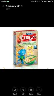 *FREE DELIVERY to WM only / Ready stock*   Cerelac multi grain & vegetables for 12month (expiry May 2018) as shown design/color.    Free delivery is applied for this item.