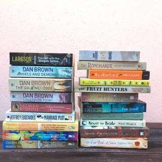 { BOOKS FOR SALE } Dan Brown, Jeffrey Eugenides, Salman Rushdie