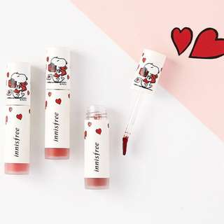 💋💄New Limited Edition Innisfree x Snoopy Vivid Creamy Lip Tint 4.5g