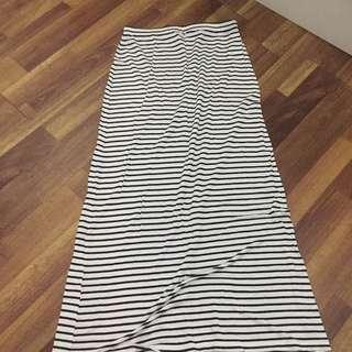 Cotton on: stripes maxi skirt