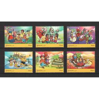 MALAYSIA 2017 LEGOLAND CHILDREN'S HOLIDAY ACTIVITIES COMP. SET OF 6 STAMPS IN MINT MNH UNUSED CONDITION