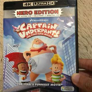 (4K Disc Only) Captain Underpants 4K Ultra HD Blu-ray