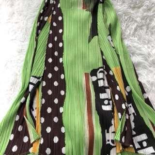 Pleats please By Issey miyaje green skirt