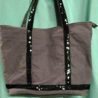 🚚 🛍紫羅蘭牛仔布亮片造型手提包