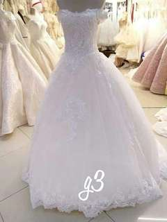 WEDDING Gown - long back