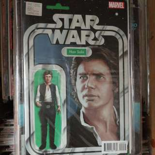 Star Wars Comic #2, Marvel comics, Han Solo action figure cover