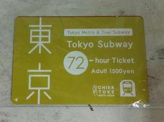 🚚 東京地鐵三日券