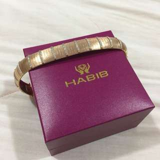 Italian Design Habib Jewel 916 Gold with Rose Gold Plated