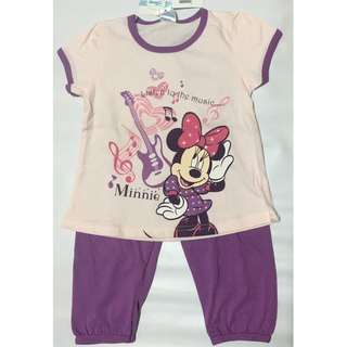 Disney Baby Minnie Mouse Dark Purple Top & Long Pants