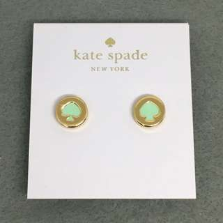 Kate Spade New York Sample Earrings 綠色配金色耳環
