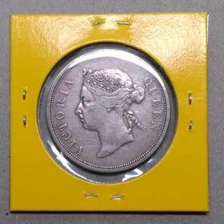 Queen Victoria 50 cents Straits Settlements