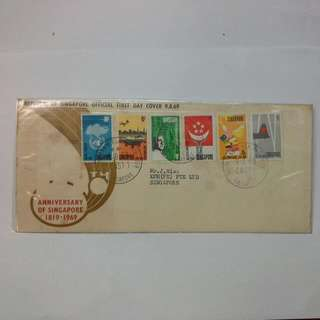 Singapore 1969 First Day Cover Anniversary 150th