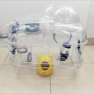 Hamster cage with other accessories