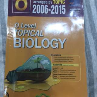 Biology Topical TYS 2006-2015