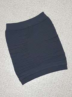 Women's Grey Fitted Skirt