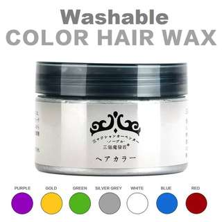 Japan Washable Colour Hair Wax - Get Styled with 7 colours! (in-Stock)