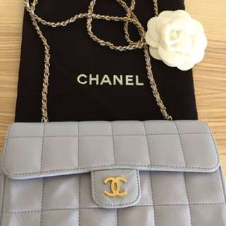 Chanel Lilac Quilted Classic Chain Bag