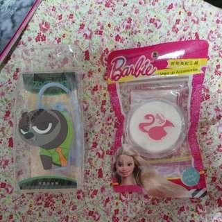 ZOOTOPIA 樹懶 掛樽 + Barbie 粉撲盒 ( DISNEY / MATTEL  License)