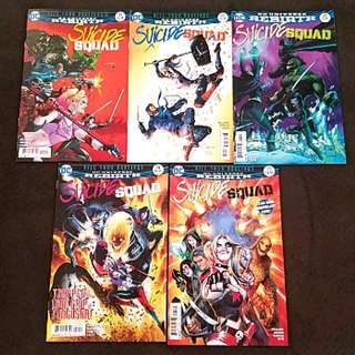 """DC Comics Rebirth Suicide Squad 21 to 25 Complete 5 Issue Story Arc """" Kill Your Darlings """""""