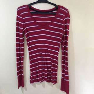 Red Stripped Longsleeves