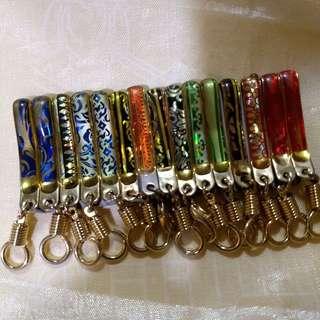 Thai Buddhist Amulet Pocket / Tie Clip Stainless Steel Buddha Display Chain