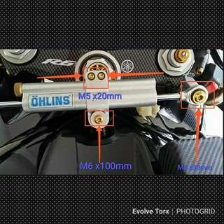 🔩Titanium Torx Bolt steering damper