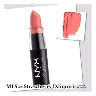 💕 Instock 💕 NYX Matte Lipstick 💋 MLS22 Strawberry Daiquiri 💋