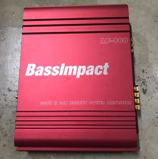 BassImpact 2 channel AMP (Display set)