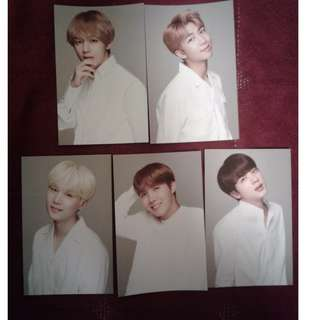 BTS X VT 'THINK YOUR TEETH' PHOTOCARDS
