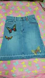 Maong skirt with patches ¤