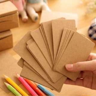 kraftpaper cards (50 pieces)