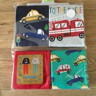 primark 4-5yrs pyjamas transport (2sets)