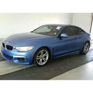 帥得很經典 2014 BMW 428i 雙門 利曼藍 M-sport Keyless 天窗