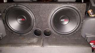 Earthquake white/red tag 12 inch subwoofer with bix
