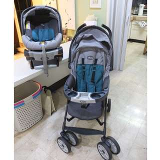 Chicco Neuvo Stroller and 360 Keyfit Carrier/Car seat