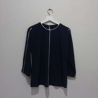 Navy blouse all size
