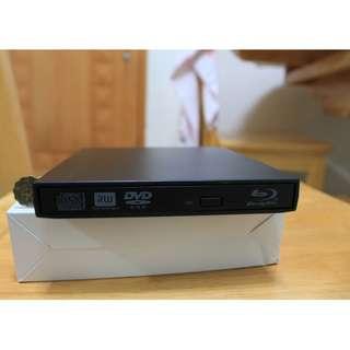 100% 全新外置 藍光 Bluray combo ROM 播 blu-ray 碟(燒 DVDRW CDRW 燒碟機)光碟機 Notebook MACBOOK MAC OS可用