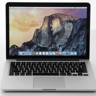 "MacBook Pro Retina Early 2013 i5 256GB SSD 8GB RAM 13"""