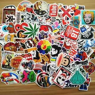 🌲XMAS PROMO🌲30/50/100/200 Waterproof Stickers For Scooter, Bicycle, Helmet, Luggage Etc