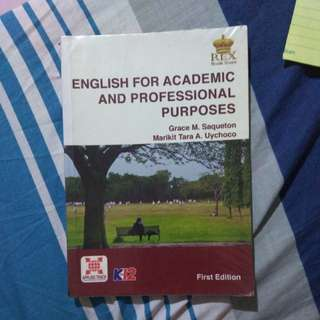 English for Academic and professional purposes (EAPP)