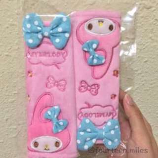 (BACKORDER) My Melody Seatbelt Covers