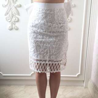 Jolie Clothing Bow Lace Skirt