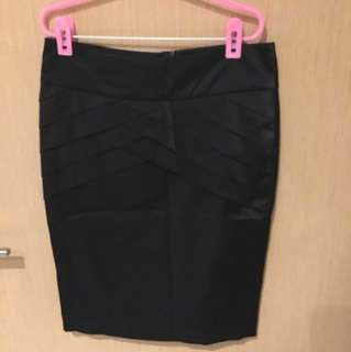 Black office Skirt