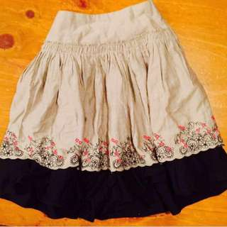 Origami Size 8 Suede Skirt